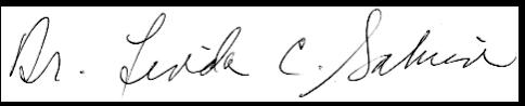 Dr. Linda Salvin's signature